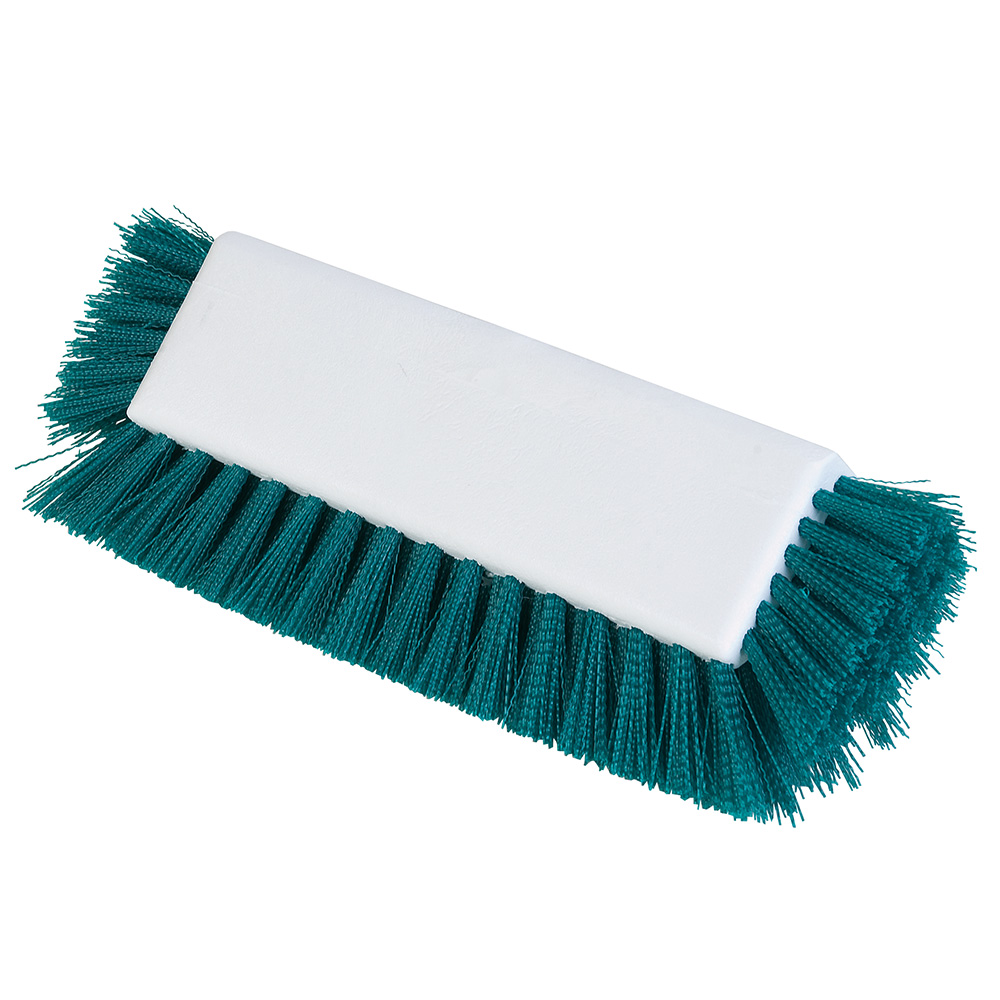 "Carlisle 4042209 10"" Dual Surface Floor Scrub Brush Head - Poly/Plastic, Green"