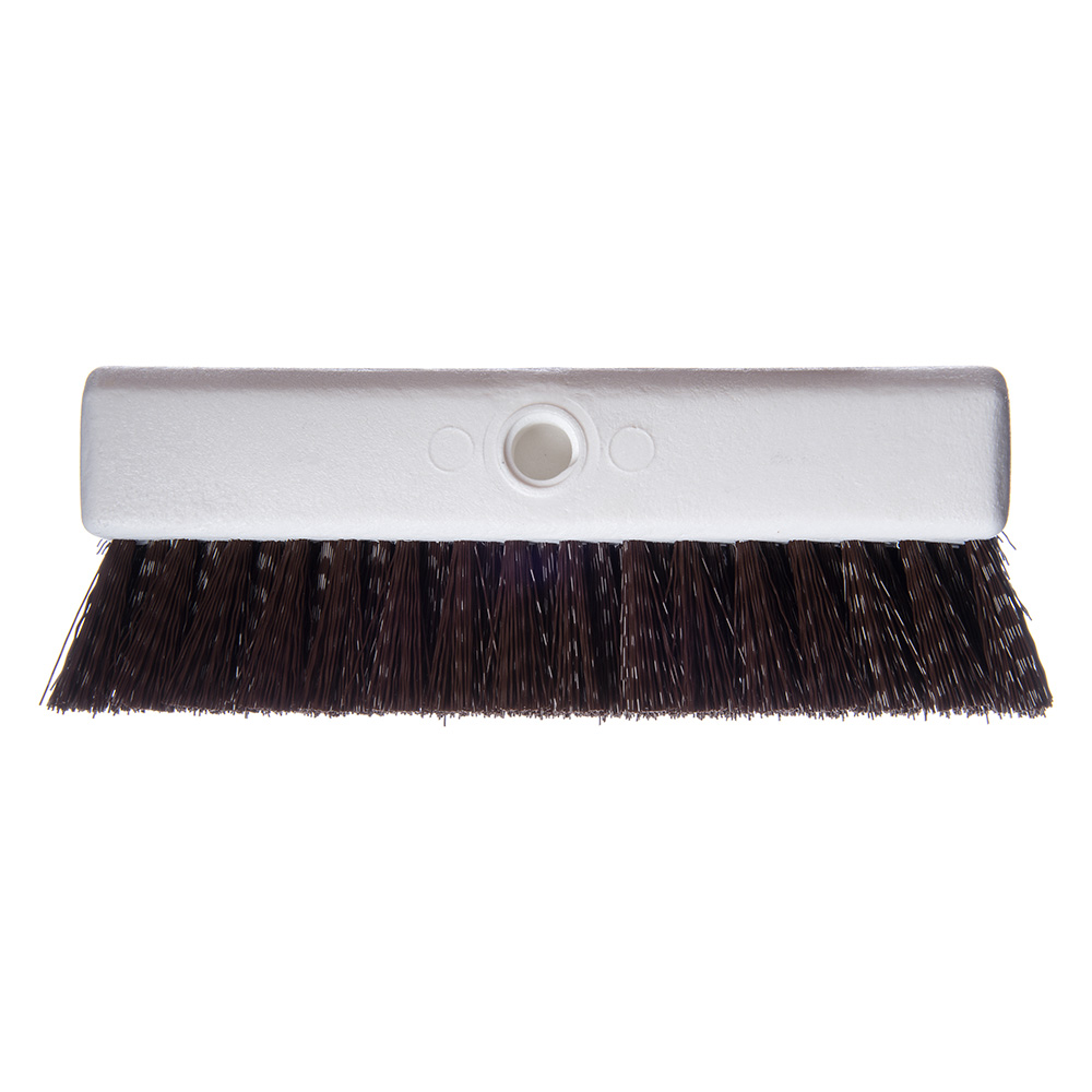 "Carlisle 4042301 10"" Hi-Lo Floor Brush Head - Crimped Synthetic Bristles, Poly, Brown"