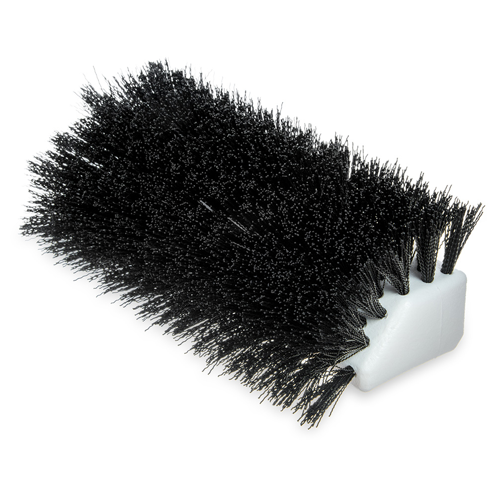 "Carlisle 4042303 10"" Hi-Lo Floor Brush Head - Crimped Synthetic Bristles, Poly, Black"