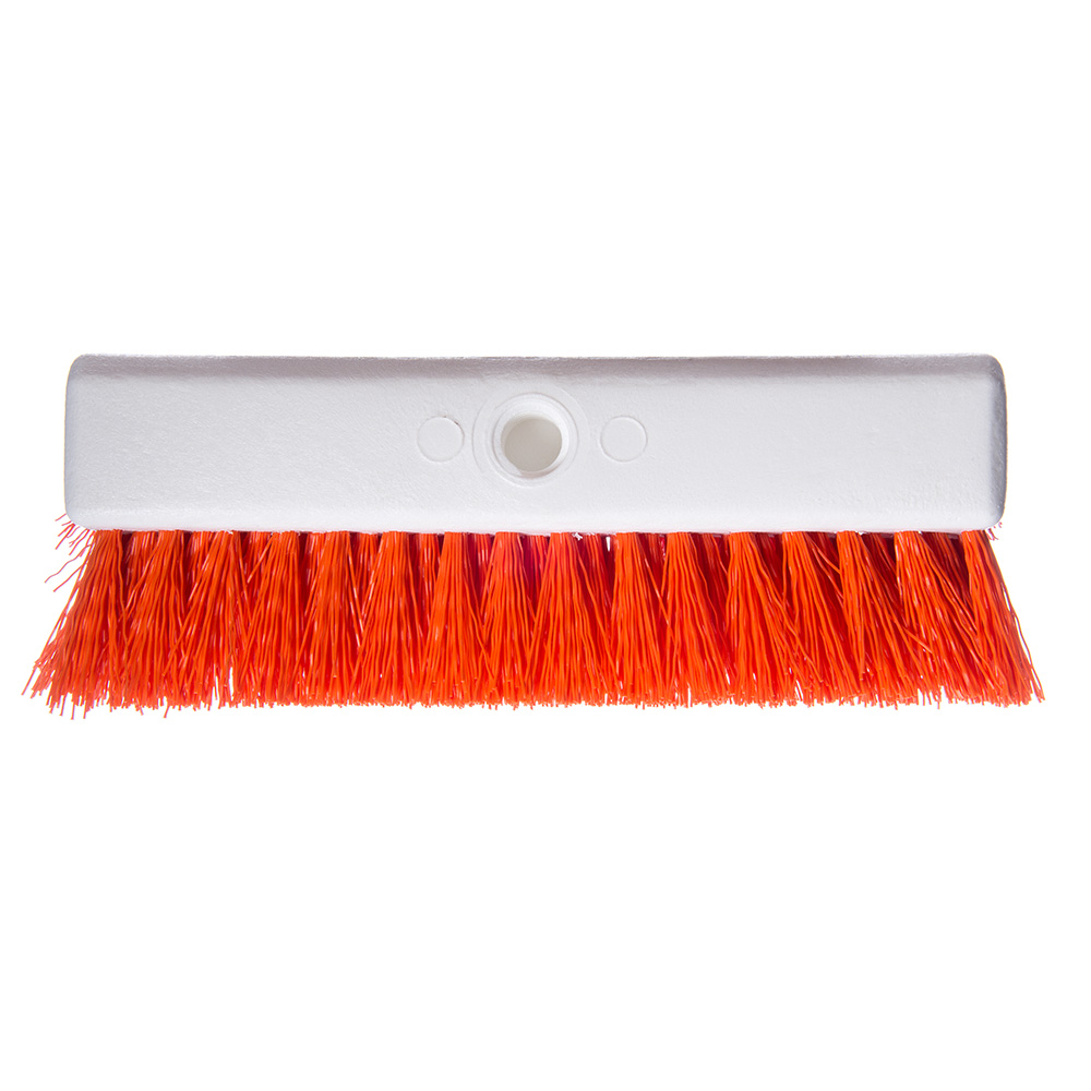 "Carlisle 40423-24 10"" Hi-Lo Scrub Brush - Orange"