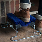 "Carlisle 4042414 10"" Boot 'N Shoe Brush - Blue"
