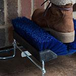 "Carlisle 4042514 10"" Boot 'N Shoe Brush Head - Plastic/Polypropylene, Blue"