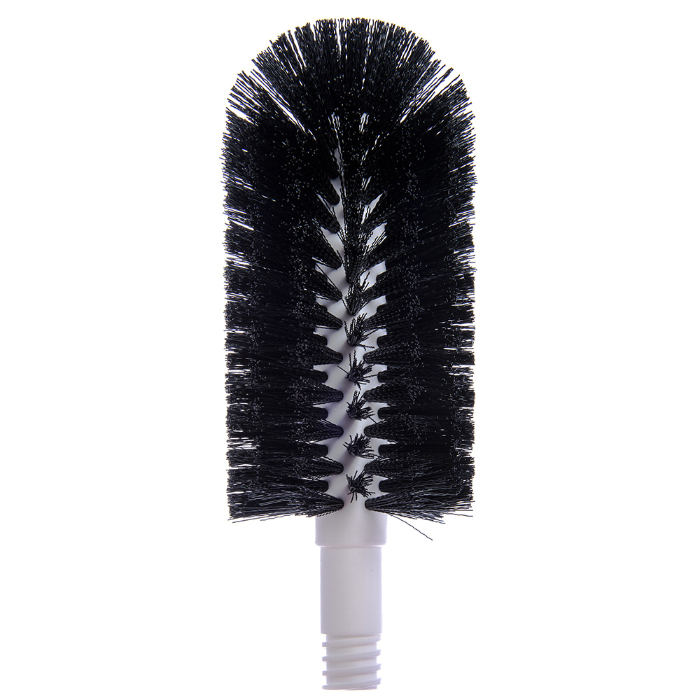 "Carlisle 4046503 8"" Glass Washer Brush Head - Polyester Bristles, Black"