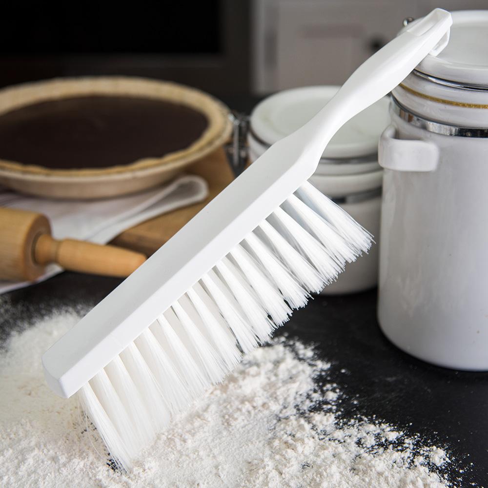 "Carlisle 4048002 13"" Counter/Bench Brush - Poly/Plastic, White"