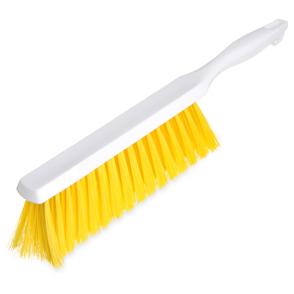 "Carlisle 4048004 13"" Counter/Bench Brush - Poly/Plastic, Yellow"
