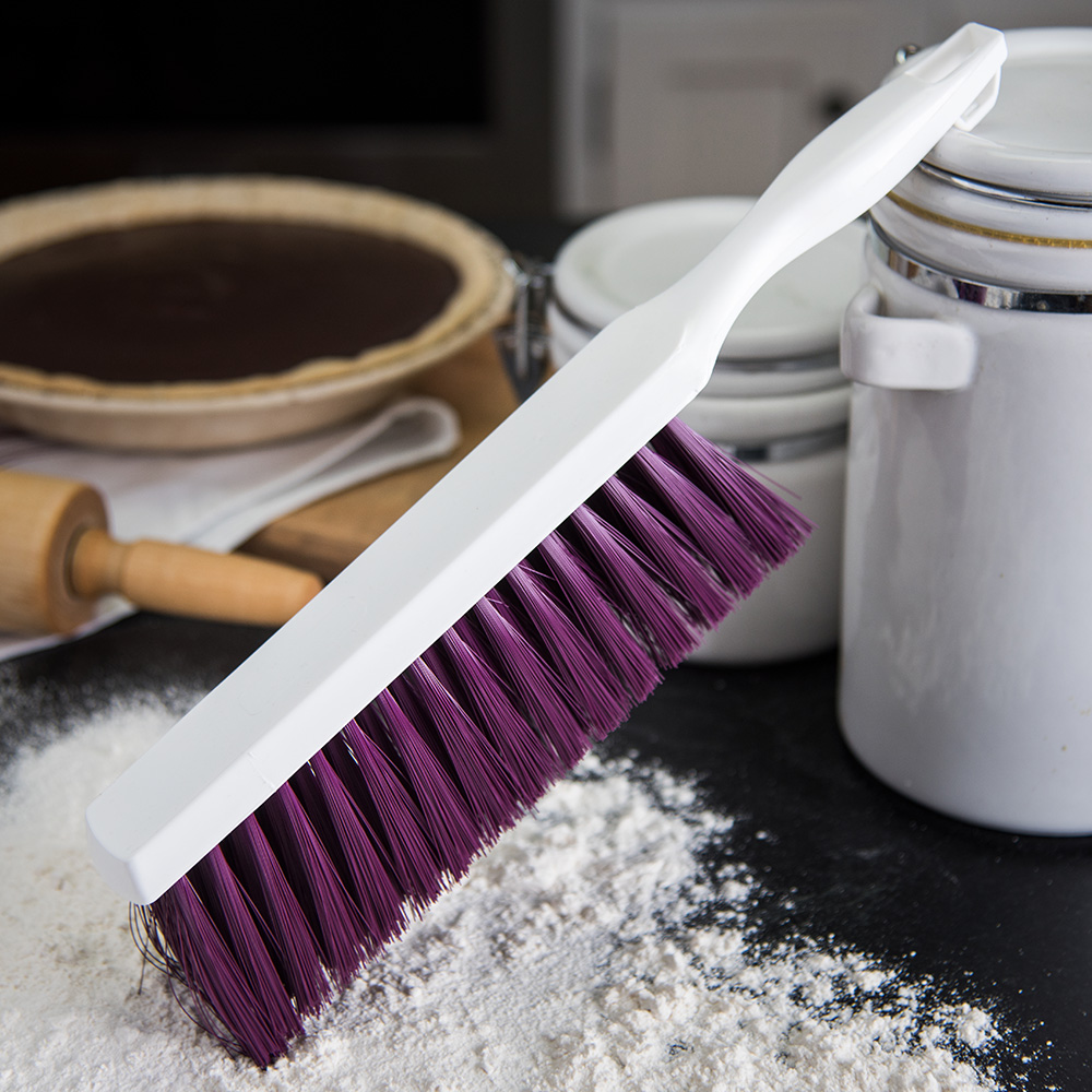 "Carlisle 4048068 13"" Counter/Bench Brush - Poly/Plastic, Purple"