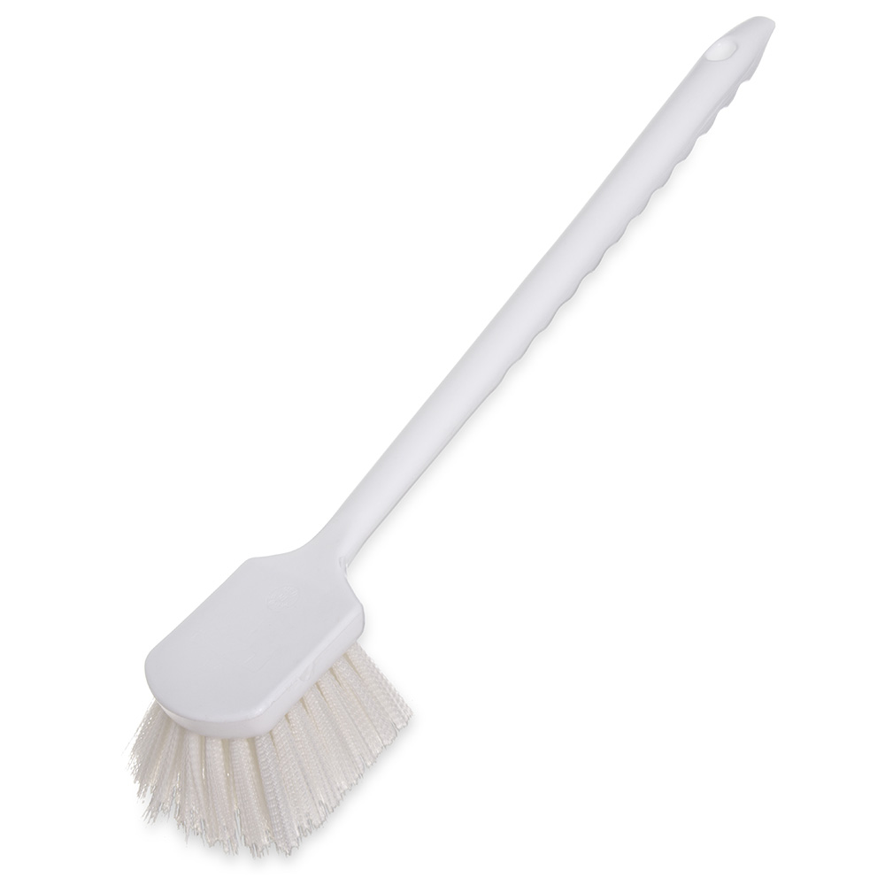 "Carlisle 4050102 20"" Utility Brush - Poly, White"