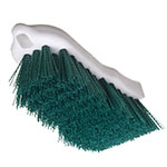 "Carlisle 4052109 Cutting Board Brush - 6x2-1/2"" White/Green"