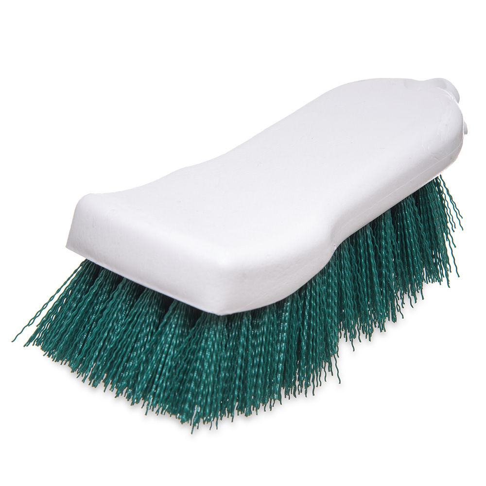 "Carlisle 4052109 Cutting Board Brush - 6x2-1/2"" White/Green"