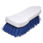 "Carlisle 4052114 Cutting Board Brush - 6x2-1/2"" White/Blue"
