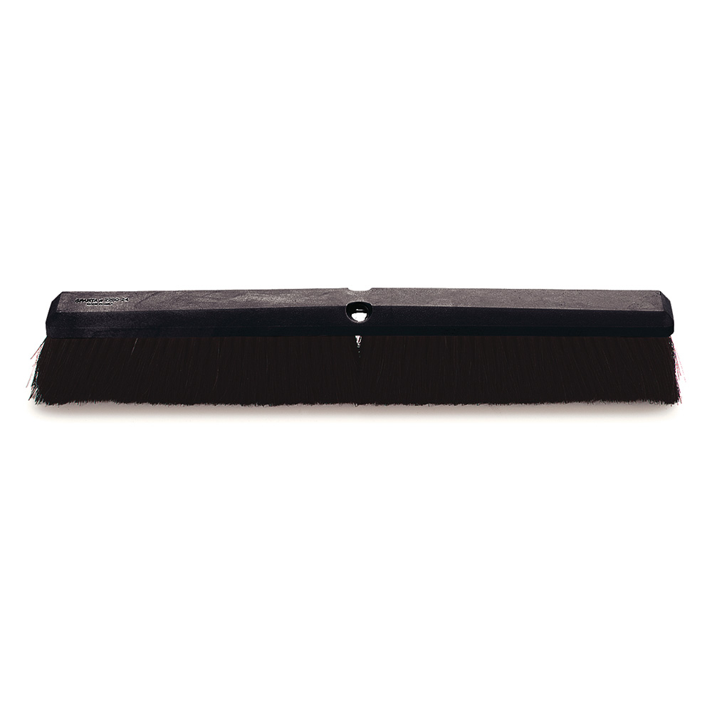 "Carlisle 4056500 24"" Floor Sweep Head - Foam Block, Black Tampico Bristles"