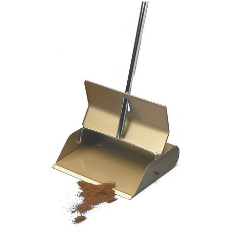 Carlisle 4066300 Lobby Dust Pan w/ Steel Handle
