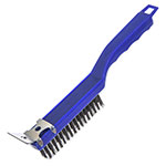 "Carlisle 4067100 11-1/2"" Scratch Brush - End-Scraper, Carbon Steel/Plastic"