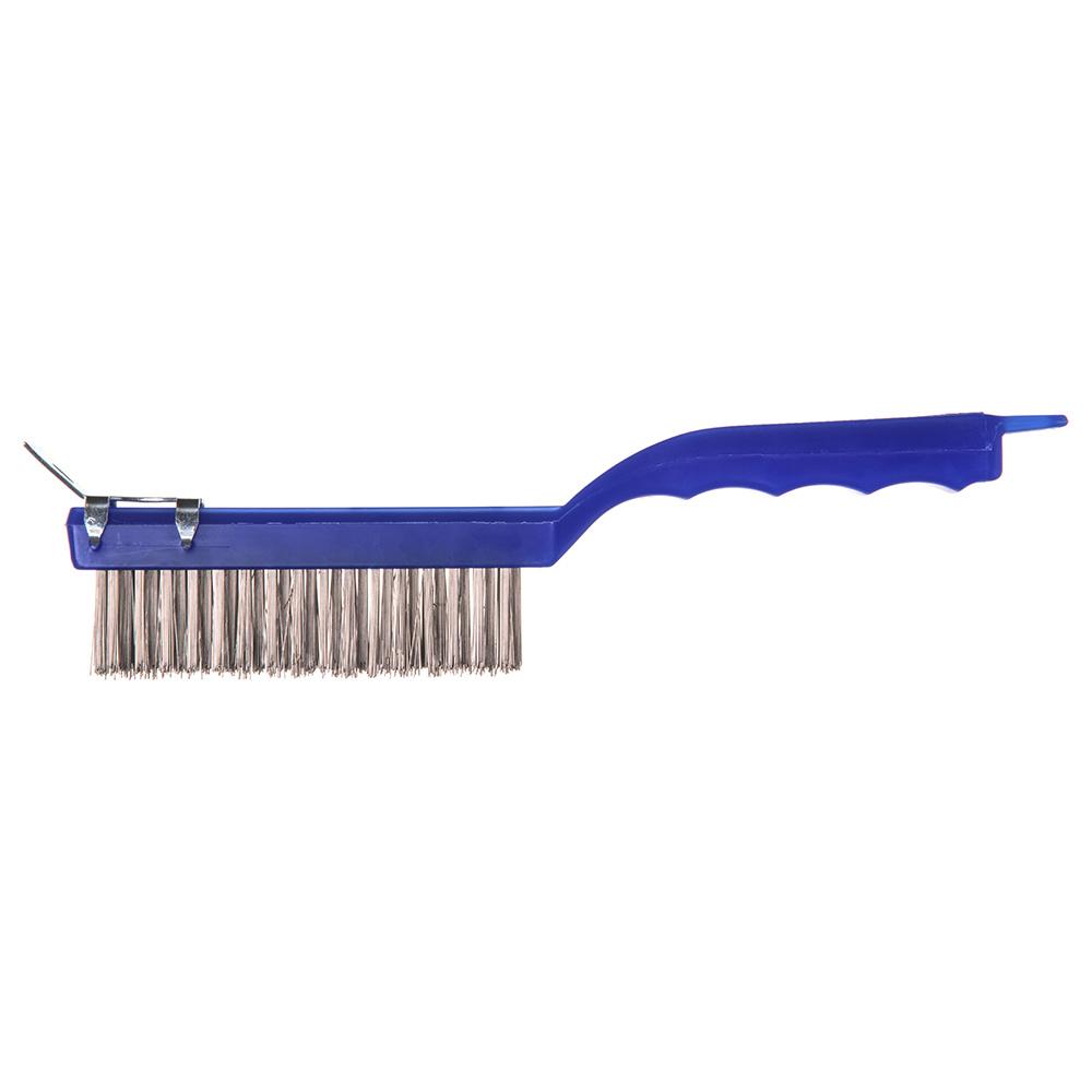 "Carlisle 4067200 11-1/2"" Scratch Brush - End-Scraper, Stainless Steel/Plastic"