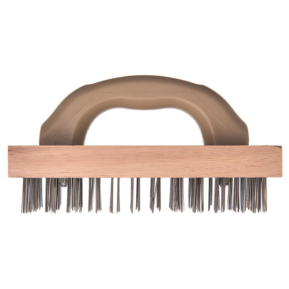 """Carlisle 4067600 9-3/8"""" Butcher Block Brush - Steel/Hardwood"""