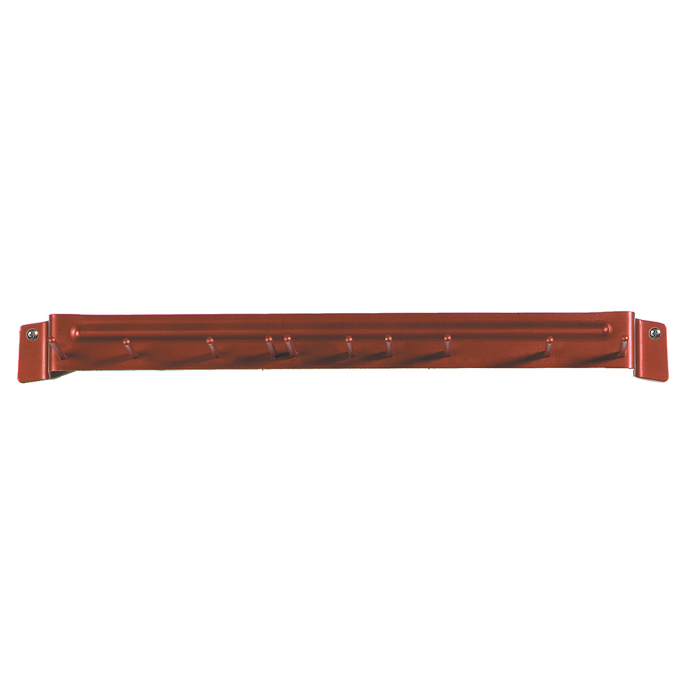 "Carlisle 4073505 17"" Brush Rack - Wall Mount, Aluminum, Red"