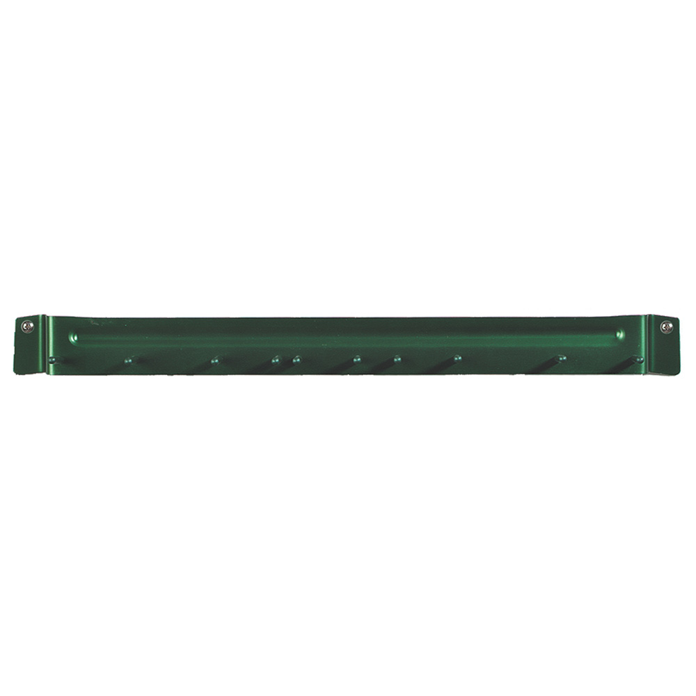 "Carlisle 4073509 17"" Brush Rack - Wall Mount, Aluminum, Green"