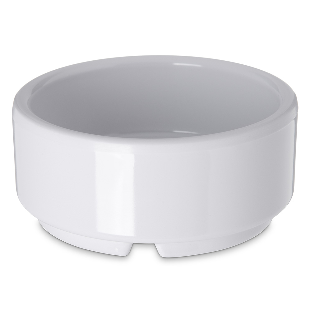 Carlisle 41002 2-oz Footed Ramekin - Melamine, White