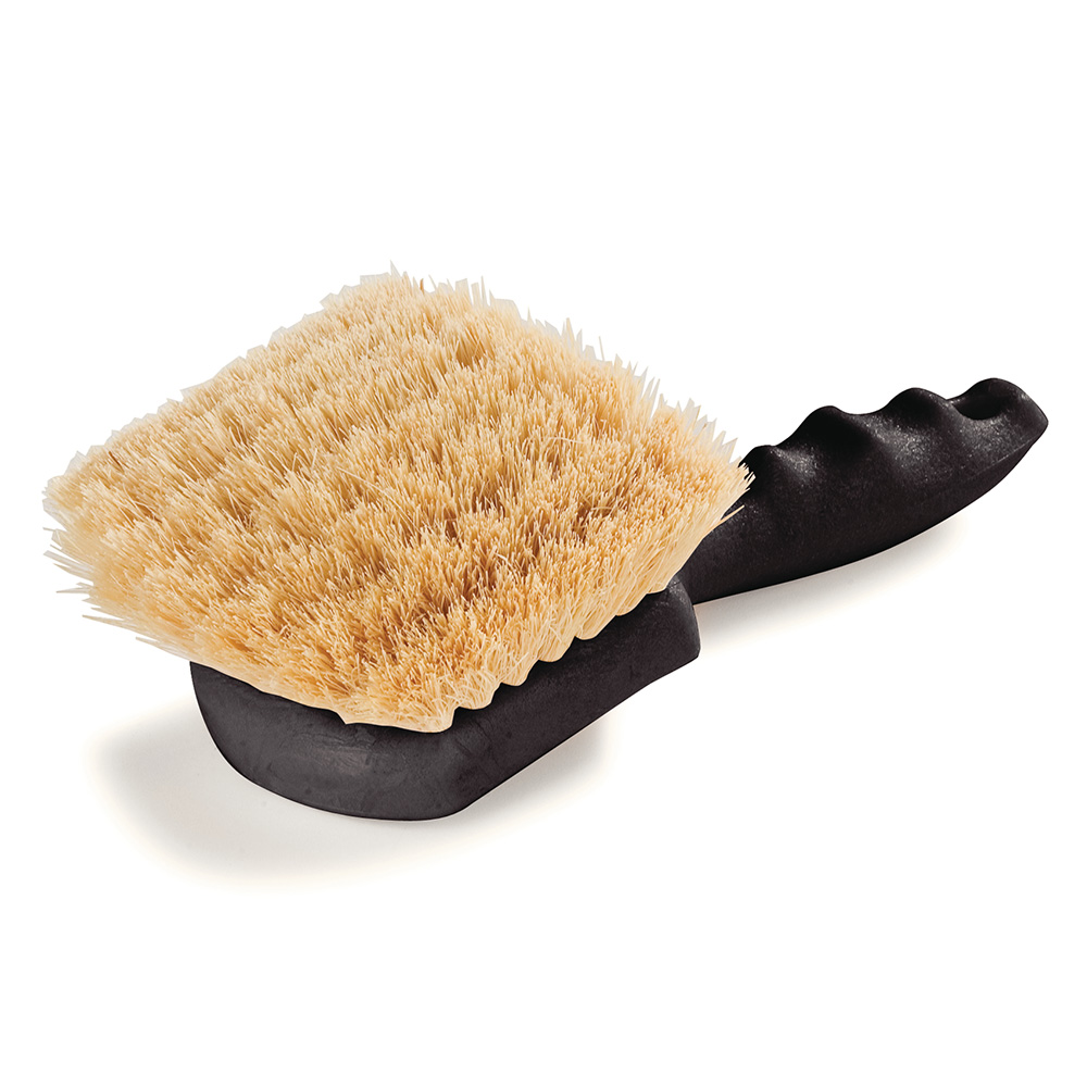 "Carlisle 4100300 8"" Utility Scrub Brush - Plastic/Tampico, Off White"