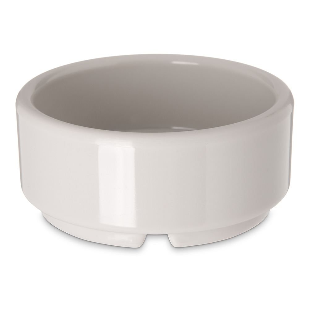 Carlisle 41042 2-oz Footed Ramekin - Melamine, Bone