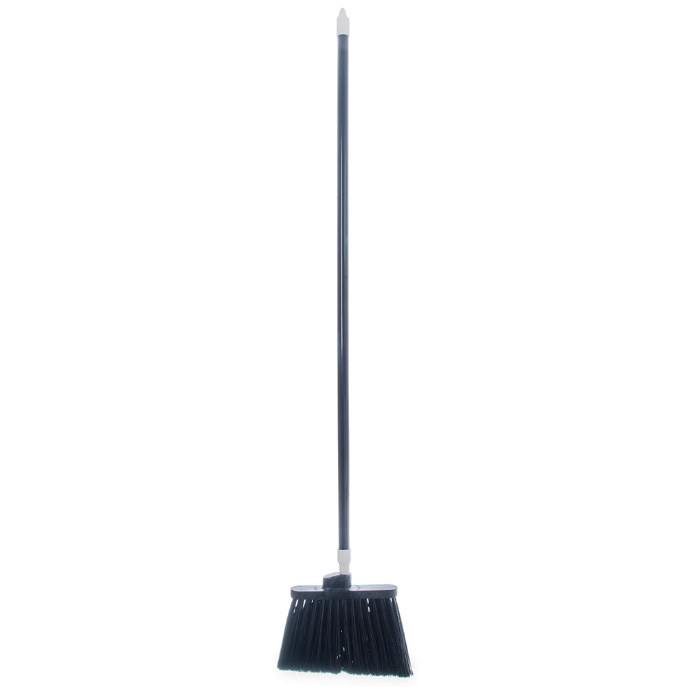"Carlisle 4108203 48"" Duo-Sweep Angle Broom - Fiberglass/Polypropylene, Black"