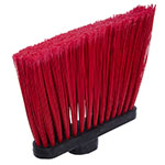 "Carlisle 4108205 12"" Angle Broom - 48"" Fiberglass Handle, Flagged Bristles, Red"