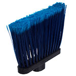 "Carlisle 4108214 12"" Angle Broom - 48"" Fiberglass Handle, Flagged Bristles, Blue"