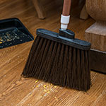 "Carlisle 4108301 48"" Duo-Sweep Angle Broom - Flex-Tip, Fiberglass/Polypropylene, Brown"