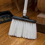 "Carlisle 4108302 12"" Angle Broom - 48"" Handle, Unflagged Bristles, White"