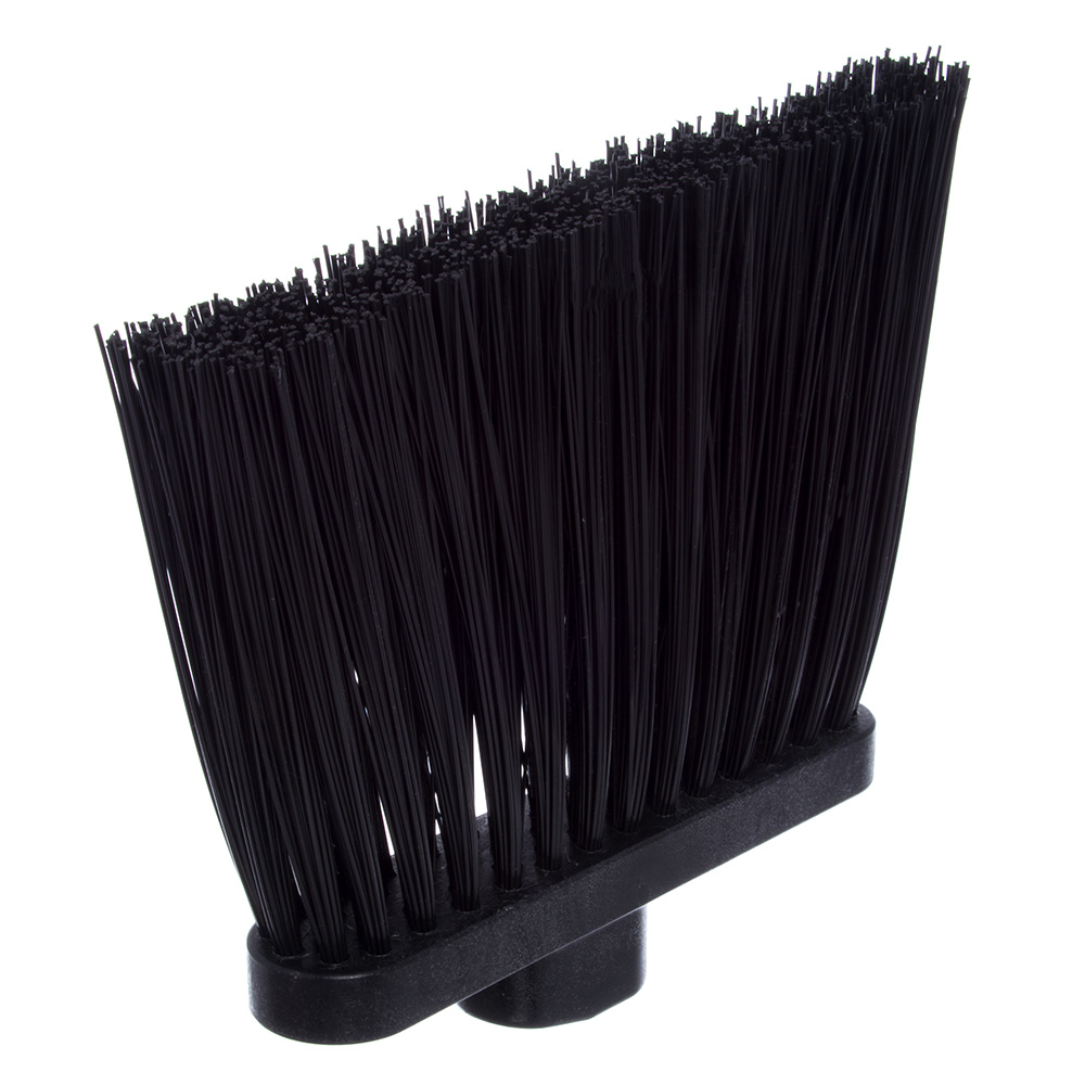 "Carlisle 4108303 12"" Angle Broom - 48"" Handle, Unflagged Bristles, Black"