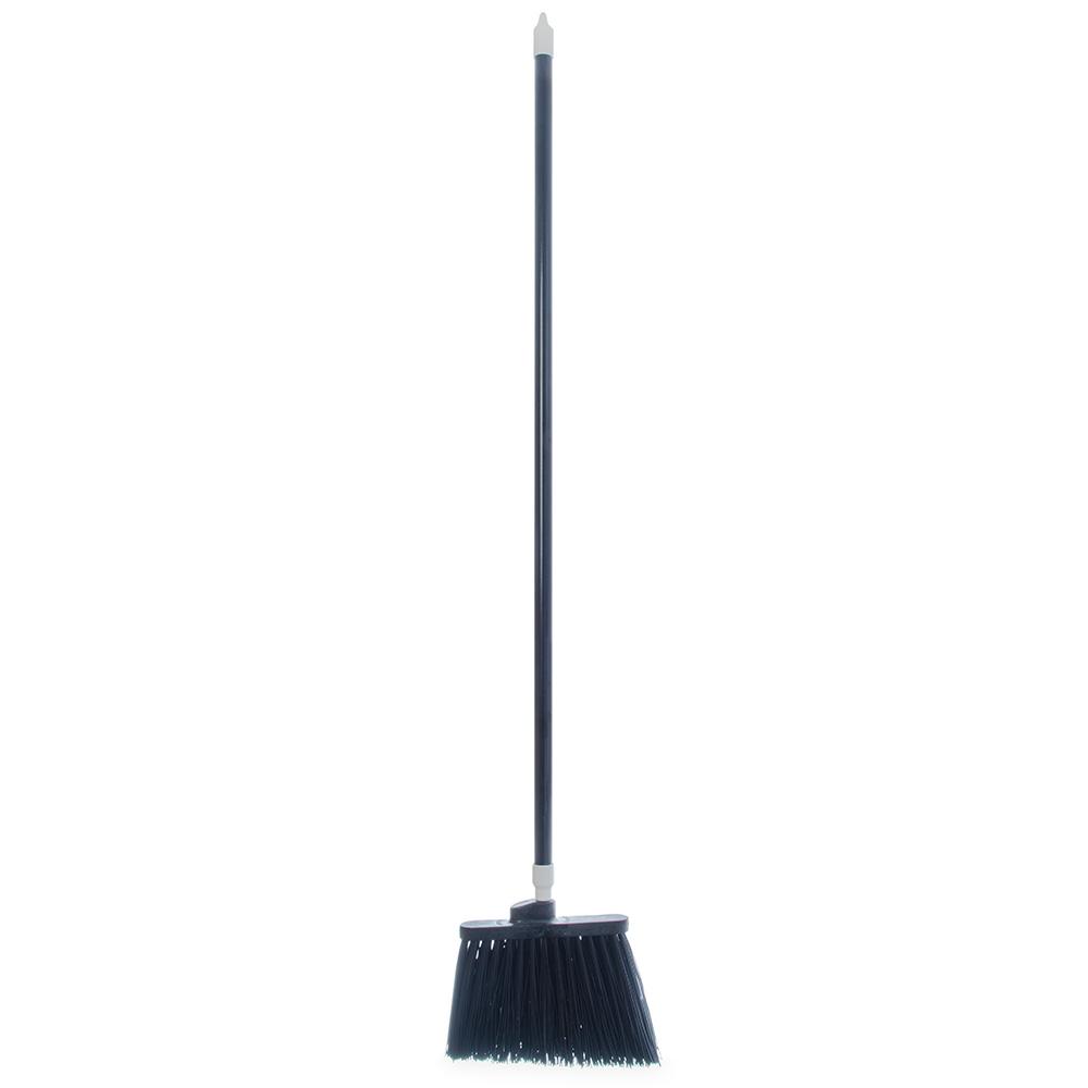 """Carlisle 4108303 12"""" Angle Broom - 48"""" Handle, Unflagged Bristles, Black"""