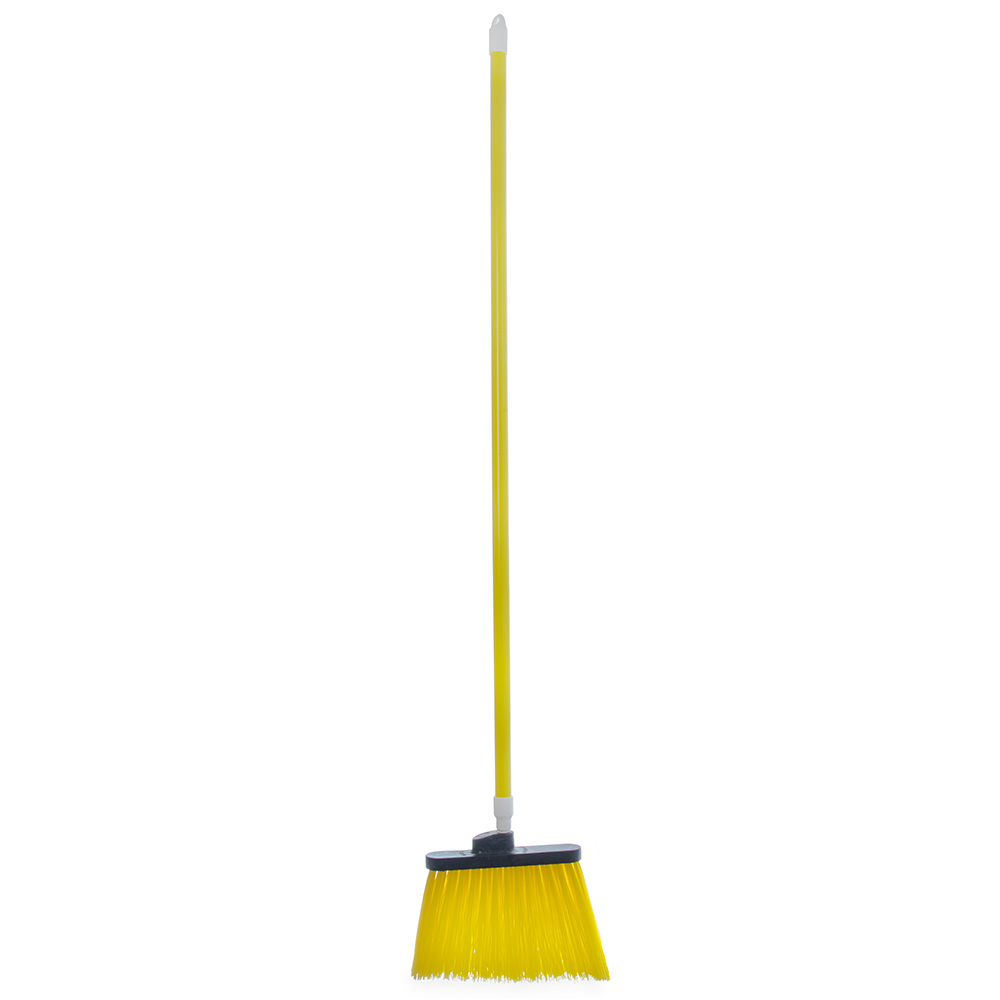"Carlisle 4108304 12"" Angle Broom - 48"" Handle, Unflagged Bristles, Yellow"