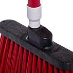 "Carlisle 4108305 12"" Angle Broom - 48"" Handle, Unflagged Bristles, Red"