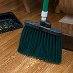 "Carlisle 4108309 12"" Angle Broom - 48"" Handle, Unflagged Bristles, Green"