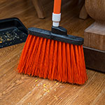 "Carlisle 4108324 12"" Angle Broom - 48"" Handle, Unflagged Bristles, Orange"