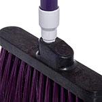 """Carlisle 4108368 12"""" Angle Broom - 48"""" Handle, Unflagged Bristles, Purple"""