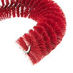 """Carlisle 4110005 11.5"""" Clean-In-Place Brush w/ Polyester Bristles, Red"""