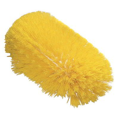 "Carlisle 4117704 10-1/2"" Jumbo Tank/Kettle Brush - Flare Head, Polyester, Yellow"