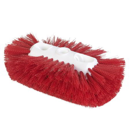 "Carlisle 4117705 Jumbo Tank/Kettle Brush - 6x10-1/2"" Red"