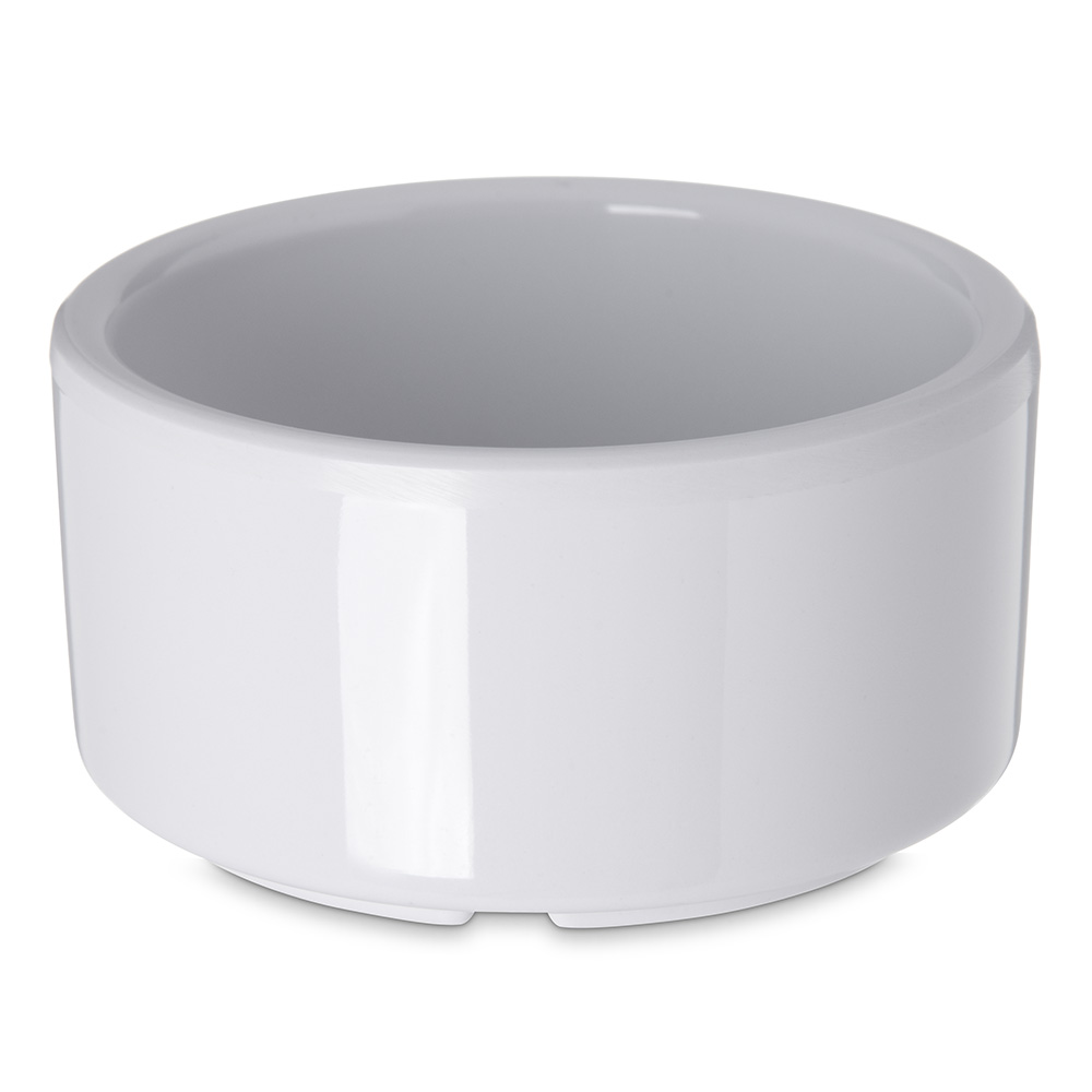 Carlisle 41202 3-oz Footed Ramekin - Melamine, White
