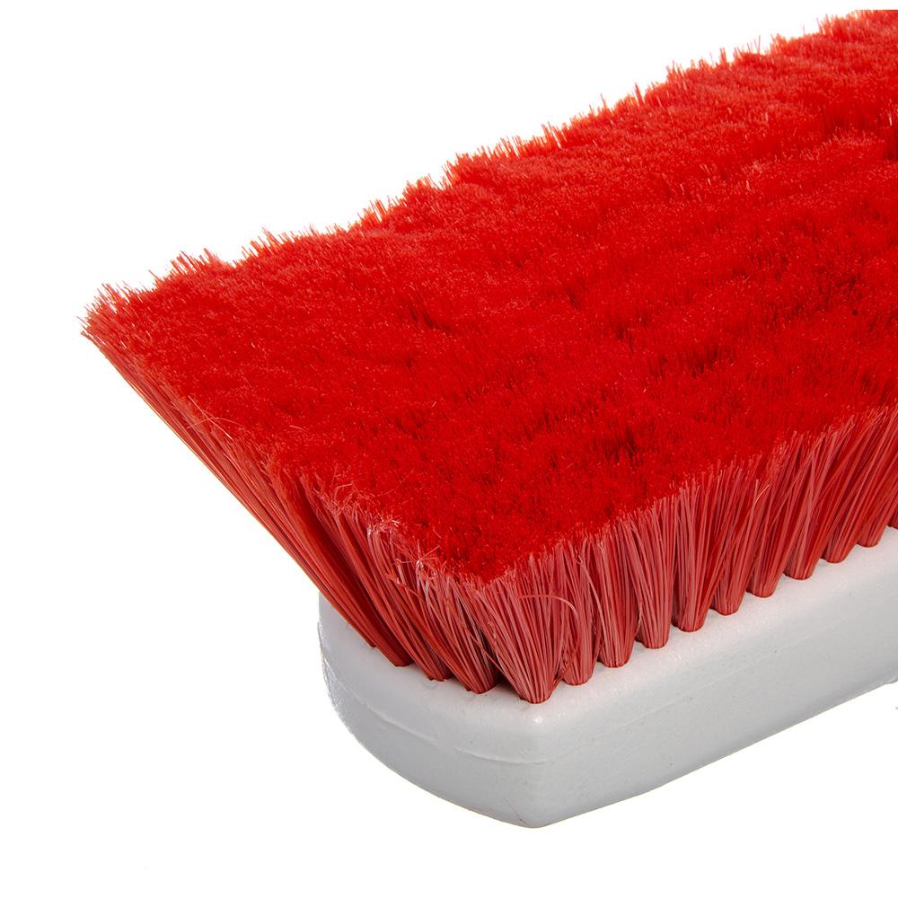 "Carlisle 4127805 10"" Flo-Thru Brush w/ Nylon Bristles, Red"