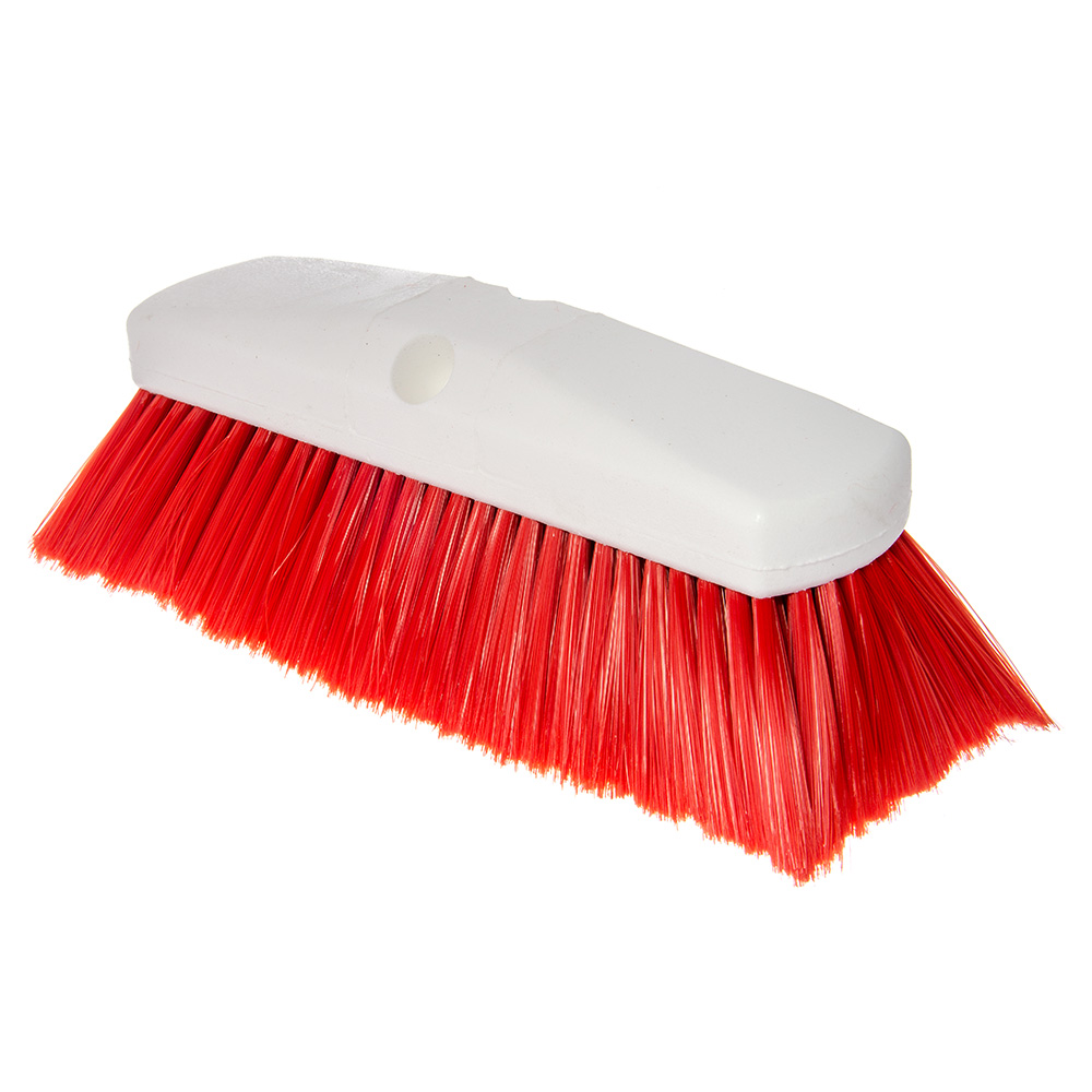 "Carlisle 4127805 10"" Flo-Thru Brush w/ Nylon Bristles, Red"