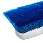 "Carlisle 4127814 10"" Flo-Thru Brush w/ Nylon Bristles, Blue"