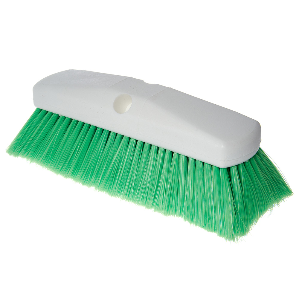 "Carlisle 4127875 10"" Flo-Thru Brush - Plastic/Nylex, Green"