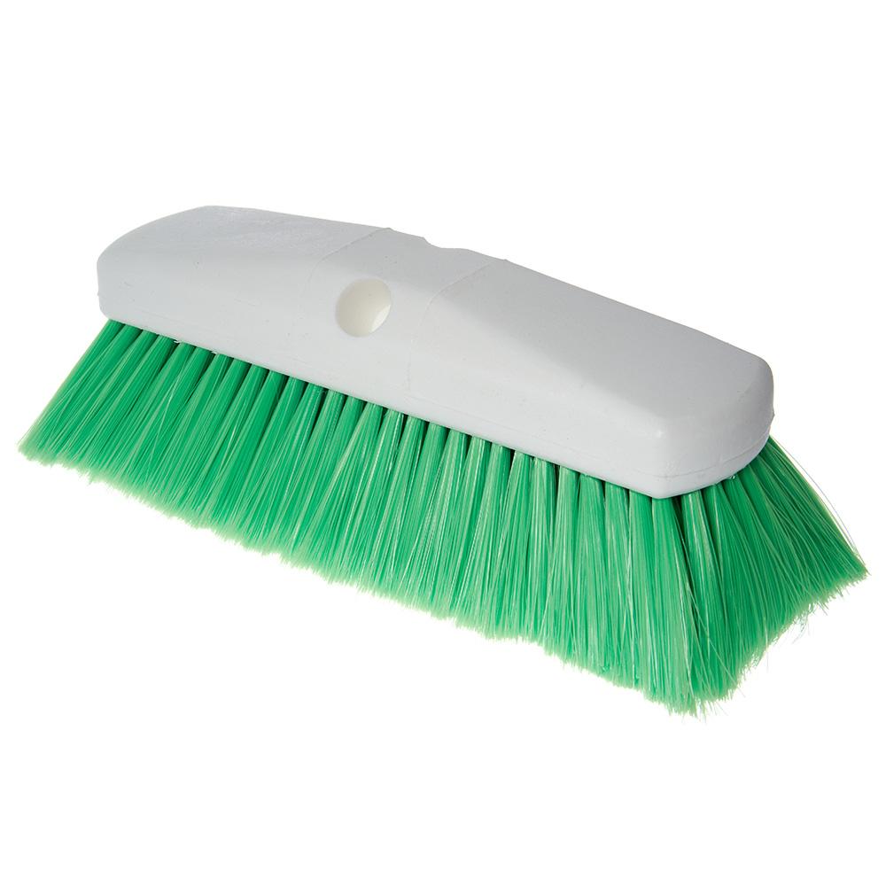 "Carlisle 4127875 10"" Flo-Thru Brush w/ Nylon Bristles, Green"