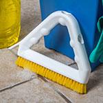 "Carlisle 4132304 9"" Triangular Tile & Grout Brush w/ Polyester Bristles, Yellow"