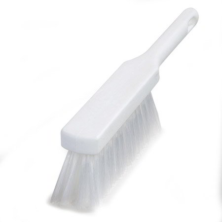 "Carlisle 4137202 13"" Counter Brush w/ Polyester Bristles, White"