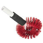 "Carlisle 4139005 12"" Clean-In-Place Blush w/ Polyester Bristles, Red"