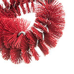 """Carlisle 4139005 12"""" Clean-In-Place Blush w/ Polyester Bristles, Red"""