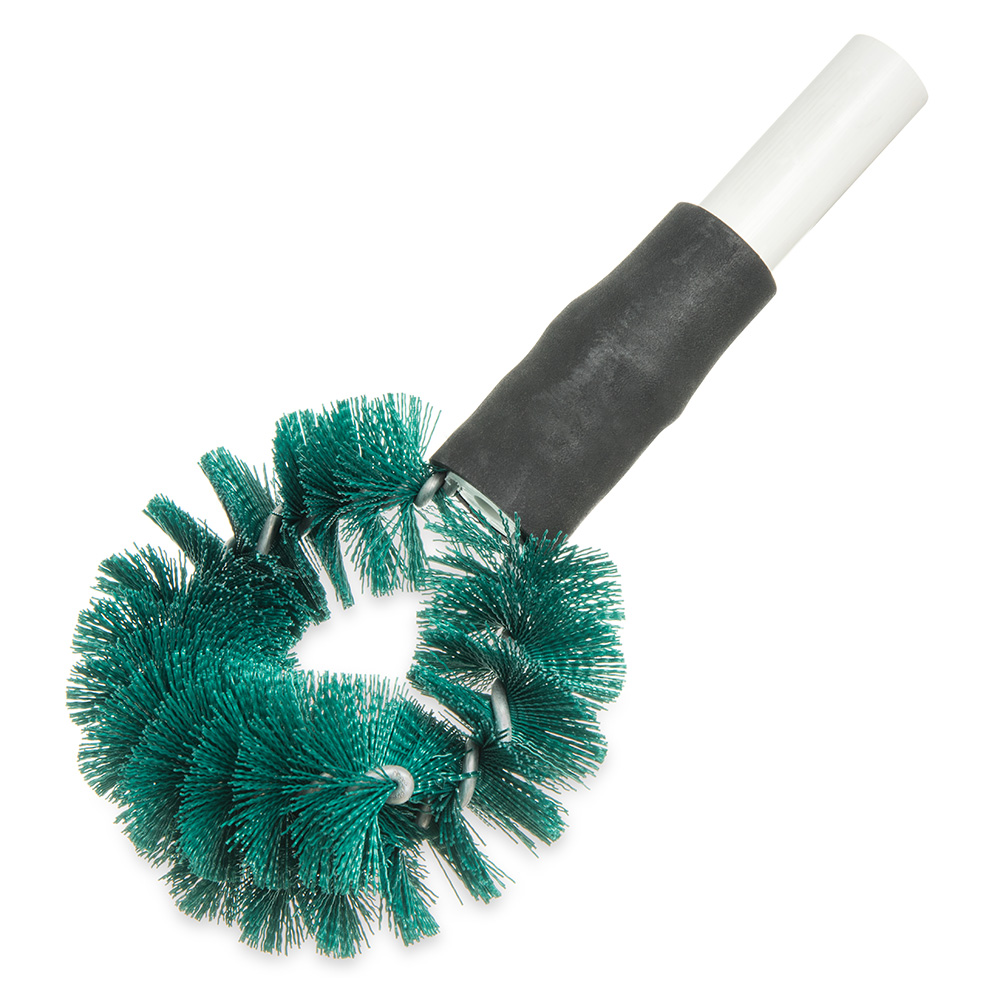"Carlisle 4139009 12"" Clean-In-Place Brush - Circular Shape, Galvanized Wire, Poly, Green"